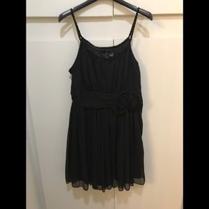 Black Dainty H&M Floral Band Dress
